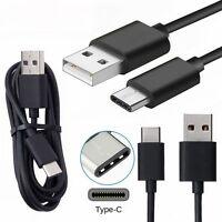 3X USB Type C USB-C 3.1  Daten Sync Ladekabel Kabel schwarz für Samsung S8 S8+