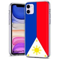 Thin Gel Protective Phone Case,Apple iPhone 11,XS,XR,8,Flag  Philippines Print