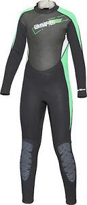 Bare Youth Kids Manta 3/2mm WetSuit Full Sun Guard Swim All Size 6-16 Green