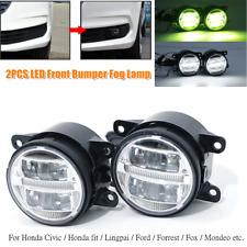 2×Car Full LED Lens Diurnal Light Front Bumper Fog Lamp Spotlight Driving Light