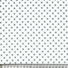 Quadrat, Square, schwarz, weiß, basic, Patchwork, Deko, Stoff Makower (20x112cm)