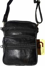 New Men/women's belt bag, shoulder bag, Black leather belt bag mini handbag BNWT