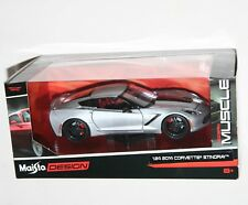 Maisto - 2014 CORVETTE STINGRAY (Silver) 'Modern Muscle' - Model Scale 1:24