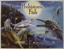 DINOSAUR STAMPS SHEET OF 4 MNH 2005 GRENADA GRENADINES PREHISTORIC FISH SEALIFE