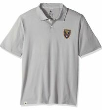 Adidas Men's Real Salt Lake Soccer Gray Polo Jersey Extra Large XL MLS US