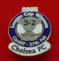 Danbury Pin Badge Chelsea Football Club FC Winners vs Liverpool League Cup 2005