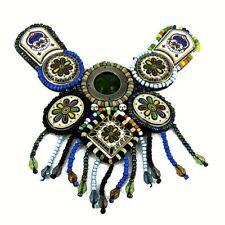 Patch Sewing bag Decoration Inca Kuchi Afghan Banjara Tribal beads CODE E