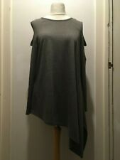 BE YOU Womens Long Sleeve Cold Shoulder Asymmetric Top Size 20/22 Uk BNWT Grey