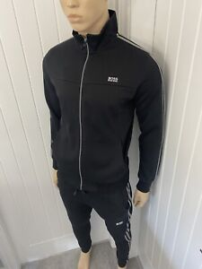 Hugo Boss Full Tracksuit Zipped Jacket & Pant Mens Bnwt Black Small £119