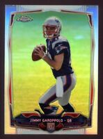 2014 Topps Chrome JIMMY GAROPPOLO Rookie Card RC REFRACTOR #150 49ers FULL SIZE