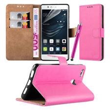 Fundas y carcasas lisos de piel para teléfonos móviles y PDAs Huawei
