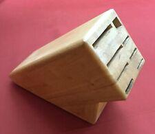Wusthof 9 Slot Knife Scissors Sharpener Solid Wood Block Holder