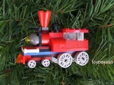 Custom Built Holiday Christmas Tree Train Ornament Built w/ New Lego Bricks