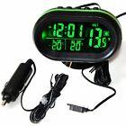 Digital Led Clock Car Voltmeter Thermometer Battery Dc 12v-24v Voltage Monitor