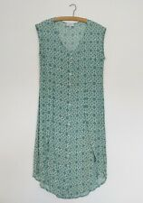 Laura Ashley Size 14 Summer Dress Vintage Style Archive Green White Geo Floral