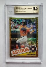 2020 Topps JOSE ALTUVE '85 Silver Pack Chrome Gold Refractor /50 #85C14 BGS 9.5