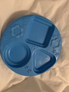 HTF Replacement Fisher Price Laugh Learn Say Please Blue Dessert Plate