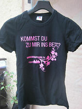 Fruit of the Loom T-Shirt Shirt Funshirt Gr.M 38 Baumwolle Schwarz mit Druck