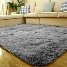 Non-Slip Fleece Plush Mat Bathroom Shower Rug Thick Bath Mat Carpet Absorbent