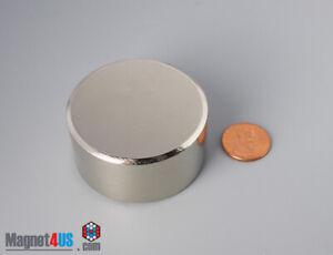 """50mm x 25 mm  2""""dia x 1""""  N45/N52  Super Power Rare Earth Neodymium Disc Magnets"""