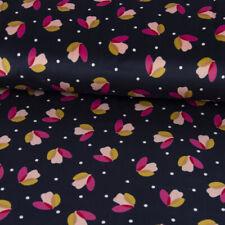 Vêtements Tissu Nicky Hérisson Lièvre Cerf Souris en fleurs Cercle Rose Coloré Largeur 1,55 m