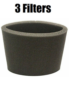 (3) Foam Filter Sleeve Fits Shop Vac Wet Dry Replaces 90585 9058500 90585-00