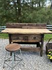 Antique Workbench with 2 Drawers