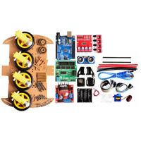 4WD Robot Car Bluetooth IR Obstacle Avoid Line Follow L298N für Pro U4O6