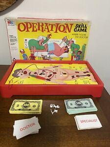 VINTAGE 1965 MILTON BRADLEY OPERATION GAME DOCTOR RARE Not Complete