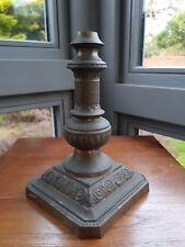 Original Victorian Antique Brass Oil Lamp Base 22mm fit No damage patina Ornate