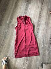 Parisan Size 8 Satin Dress Wine