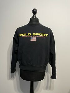Vintage 90s Ralph Lauren Polo Sport Pull Over Sweatshirt Jumper Size: Medium