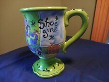 Jennifer Brinley Shoe Girl Certified International Coffee Large Mug Green