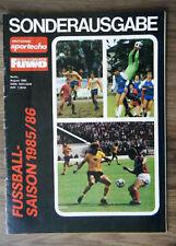 Deutsches Sportecho FUWO Fußball-Saison 1985/86 Sonderausgabe Oberliga DDR