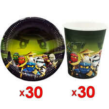 30pcs Ninjago Paper Plate & 30pcs Cup Tableware Set Decoration Party Supplies
