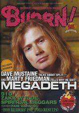 Burrn! Magazine Japan 2000 Megadeth Marty Friedman Dio Zakk Wylde