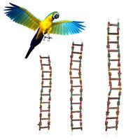 Bird Parrot Toy, Wooden Ladder Bridge Swing Hanging Ladder Toy for Pet Trainning