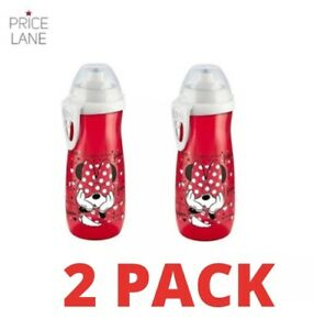 Disney Baby Toddler Kids Mickey Minnie Sports Water Bottle/Cup 450ml 2 PACK