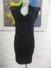 EDC by ESPRIT elegantes Stretch Kleid Gr. S,Schwarz mit Nieten,  Ärmellos