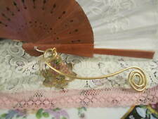 Brass Candle Snuffer Coiled Tail Design Hinged Bell Snuffer