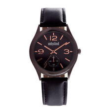 Kenneth Cole Unlisted Mens Black Leather Watch UL1432 With Gift Box