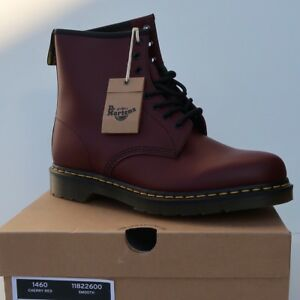 Dr. Martens 1460 Cherry Red Smooth 11822600 Unisex 8 Eye Boots Womens/Mens NEW