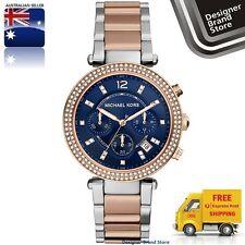 Michael Kors Parker Mini Chronograph Blue Dial Two-tone Ladies Watch MK6141