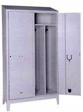 Armadio spogliatoio sporco pulito 2 posti tetto spiovente 80x50x192 serratura