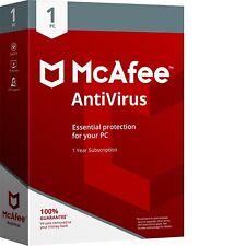 McAfee anti-virus 1PC 1 Year Free Upgrade Latest 2018 (Key Card) Antivirus 1 PC
