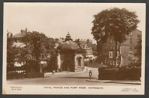 Postcard Harrogate Yorkshire the Royal Parade and Pump Room early RP Lilywhite