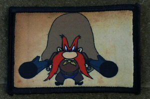 Yosemite Sam Morale patch Looney Tunes Funny Tactical Military Army Flag USA