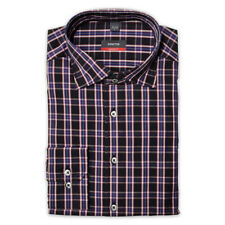 Eterna Long Sleeve Shirt Modern Fit Kent Black Blue Check Size L/8339.39.X287