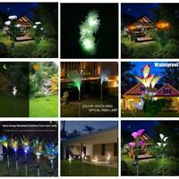 1/2PC Solar Power Lily Flower LED Light Garden Stake Lamp Yard Outdoor DIY Decor
