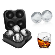 Silicone Ball Ice Cube Tray Ices Jelly Maker Mold with Lid for Whisky Cocktail